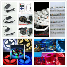 5M 300LED SMD 3528/5050/5630 Waterproof RGB Flexible Strip Light Remote+Power+DC