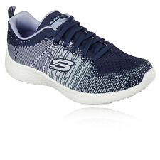 Skechers Burst Ellipse Womens White Blue Cushioned Running Sport Shoes Trainers