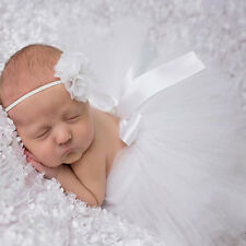 Baby Girl Newborn Headband Lovely Tutu Skirt Matching Hairband Photography Prop
