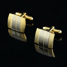 Modish Goodly Men Silver Gold Plated Cufflinks Tie Bar Clasp Clip Set Gift LKJ T