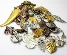 LEAF TIBETAN CHARMS PENDANTS 30g RANDOM MIX shape SILVER or GOLD