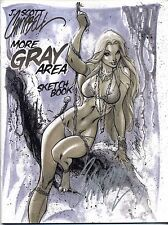 J. SCOTT CAMPBELL MORE GRAY AREA SKETCHBOOK SDCC Rare HTF SIGNED Jungle Girl NM