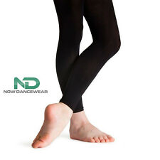Footless Black Dance Tights for Ballet and Shows