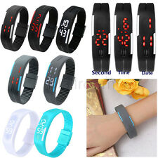 Mens Watch Womens Silicone LED Watch Date Sports Quarz Digital Bracelet Watches