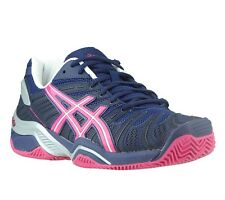 NEW asics Gel-Resolution 4 Clay Shoes Women's Tennis Shoes Blue E262N 5721 SALE