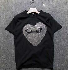 Comme Des Garcons CDG Play T-shirts Classical Big stone Lovely Heart Short  Tee