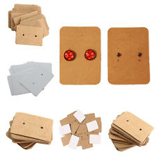 100 X Professional Earring Ear Studs Holder Display Hang Kraft Cards Paper