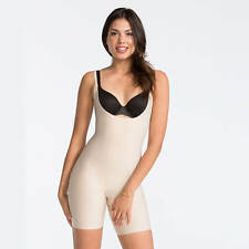 Spanx Thinstincts Open-Bust Mid-Thigh Bodysuit, Shapewear, Nude, Black, S - XL