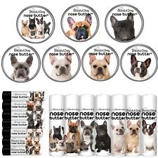 FRENCH BULLDOG NOSE BUTTER® FOR DRY NOSES CHOICE 6 FRENCHIE LABELS TINS/TUBES