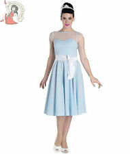 HELL BUNNY 50's MAISY check GINGHAM rockabilly DRESS prom party BLUE