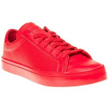 New Mens adidas Red Court Vantage Leather Trainers Skate Lace Up