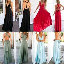 Women Formal Bridesmaid Prom Party Gown Evening Wedding Cocktail Long Maxi Dress