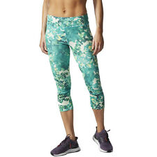 Adidas Supernova Climacool Q2 Womens Green Climalite Capri Running Tights