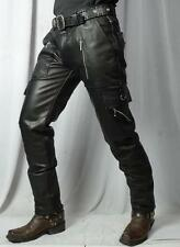 Leather biker military army cargo pant jeans harley davidson vulcan 883 1200GTC