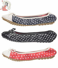 DANCING DAYS by BANNED ERIN POLKA DOT BALLERINA pumps flat SHOES