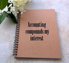 Blank Writing Journal Diary Notebook for Accountants - 5 x 7 inch