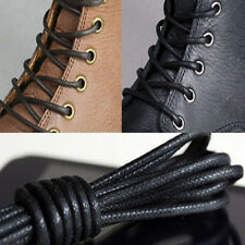 2 Pairs Waxed Round Shoe Laces Shoelace Bootlaces Leather Brogues 27.6''