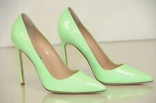 NEW Manolo Blahnik BB 115 Green Patent Shoes Heels Pumps 41 RARE
