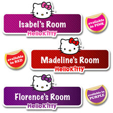 Hello Kitty Personalised Name Plate/Door Sticker available in 3 funky colours