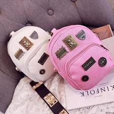 Chic Women's Leather Mini Small Backpack Travel Casual Bag Mini Shoulders Bag SM