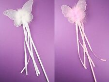 Butterfly Fairy Magic Wand in pink or white fancy dress or hen dos, birthday