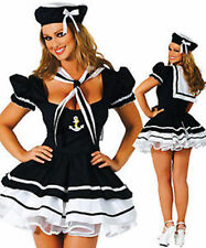 Fancy Dress Costume Halloween Womens Sailor Outfit Lingerie Underwear 8-14