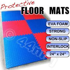 Garage Workshop Showroom Anti-Slip Flooring Mats Tiles checked RED & BLUE