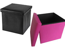 Deluxe Faux Leather  Foldaway Storage Blanket Toy Box/ Stool seat Soft Padded