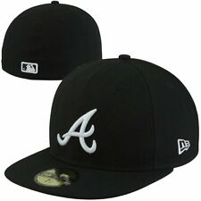 New Era Atlanta Braves 59FIFTY Fashion Fitted Hat - Black/White