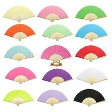 16 Colors Chinese Single-sided DIY Painting Paper Hand Fan Wedding Party Favors