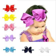 New Baby Flower Headband Girl Satin Bowknot Infant Hair Weave Baby Accessories