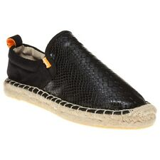 New Womens Superdry Black Ashlee Espadrille Synthetic Shoes Flats Slip On