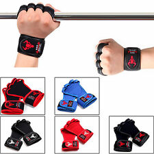Weight Lifting Gloves Bodybuilding Fitness Training Workout Gym Wrist Straps New