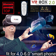 -KMCE 3D Cardboard VR Box Virtual Reality Glasses Headset For Smart Phone 4-5.7""