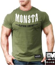 NEW Men's Monsta Clothing Signature Spike Tips Gym Shirt: Military Green