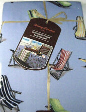 Tommy Bahama Indoor/Outdoor Water Repellent Tablecloths Beach Chairs Asst. Sizes