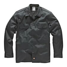 Dickies - Long/S Work Shirt Charcoal Grey Working Shirt Shirts Grey