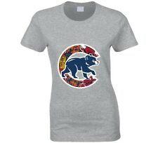 Chicago Cubs T Shirt Womens Fitted Chicago Teams Bulls Bears Blackhawks Gift Tee