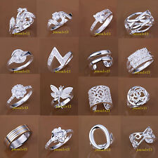 Wholesale Ladys Fashion Jewelry Gift S925 Sterling Silver Zircon Finger Rings