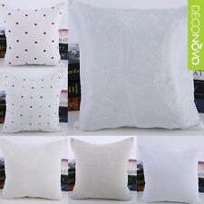Home Decorative Throw Pillow Case Sofa Seat Cushion Cover Square White Vintage