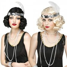 Curly Flapper Wig Adult Costume Accessory Halloween Fancy Dress