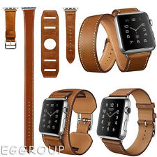 Cuff Genuine Leather Band Bracelet Double Tour Watch Band For Apple Watch iWatch