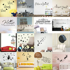 Home Living Room Decor Vinyl DIY Quote Art Wall Stickers Removable Decal Mural