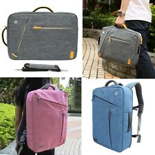 Convertible Laptop Messenger Backpack Brief Case Style for Chromebook up to 17.3