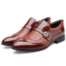 Casual Fashion Mens Pointed Patent Leather Shoes Wedding Business Formal Dress