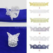 50x Butterfly Napkin Ring w/ Rose Floral Pattern Wedding Party Gifts Your CHOICE