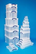 """Sizes 33 - 84 Litre Really Useful Boxes Clear Storage Box - Underbed A3 Files 7"""""""