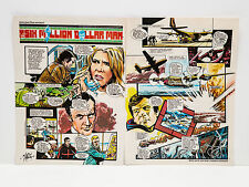 Bionic Woman Comic Strip Art Original from Look-in Magazine 1970s Rare Poster