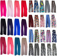 NEW LADIES FLORAL PRINT PALAZZO TROUSERS WOMENS SUMMER WIDE LEG PANTS UK 8-26
