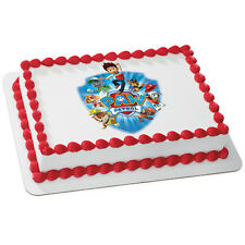 Paw Patrol Edible Cake OR Cupcake Toppers Decoration